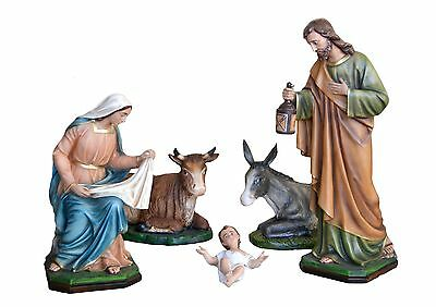 Manger Complete Nativity To Full size 5 Elements Colorful Resin Cm 105