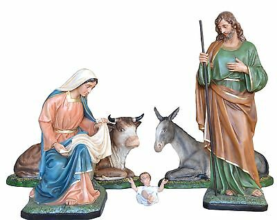 Manger Complete Nativity To Full size 5 Elements Glass-reinforced plastic Color Cm 160